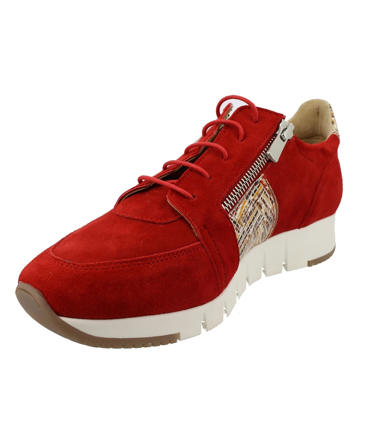 Basket VERONE Velours Rouge