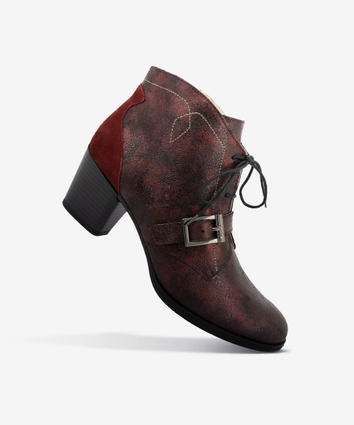 Bottines PASTY Bordeaux