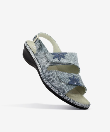 Sandales FLORA Bleu