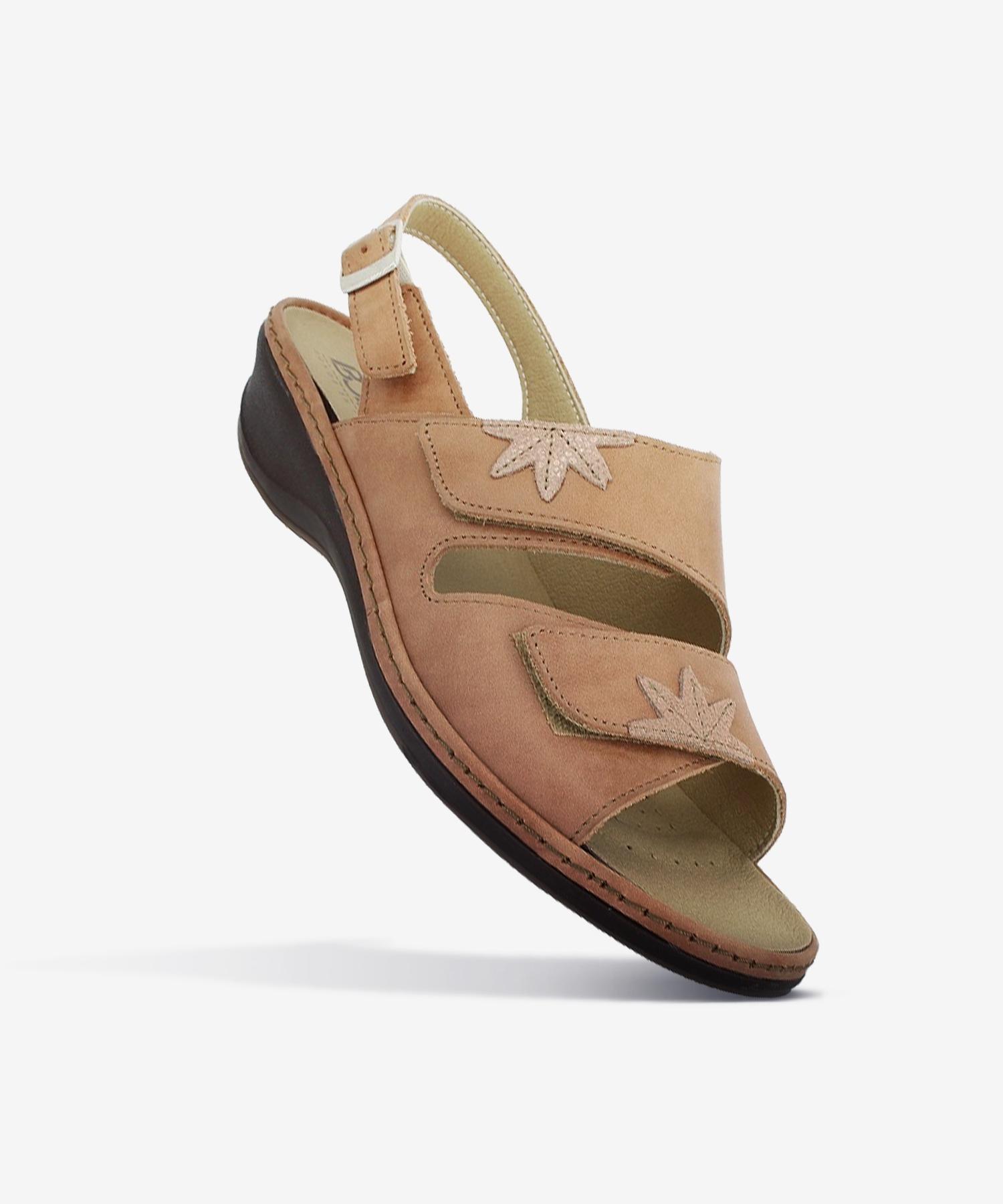 Sandales FLORA Ocre