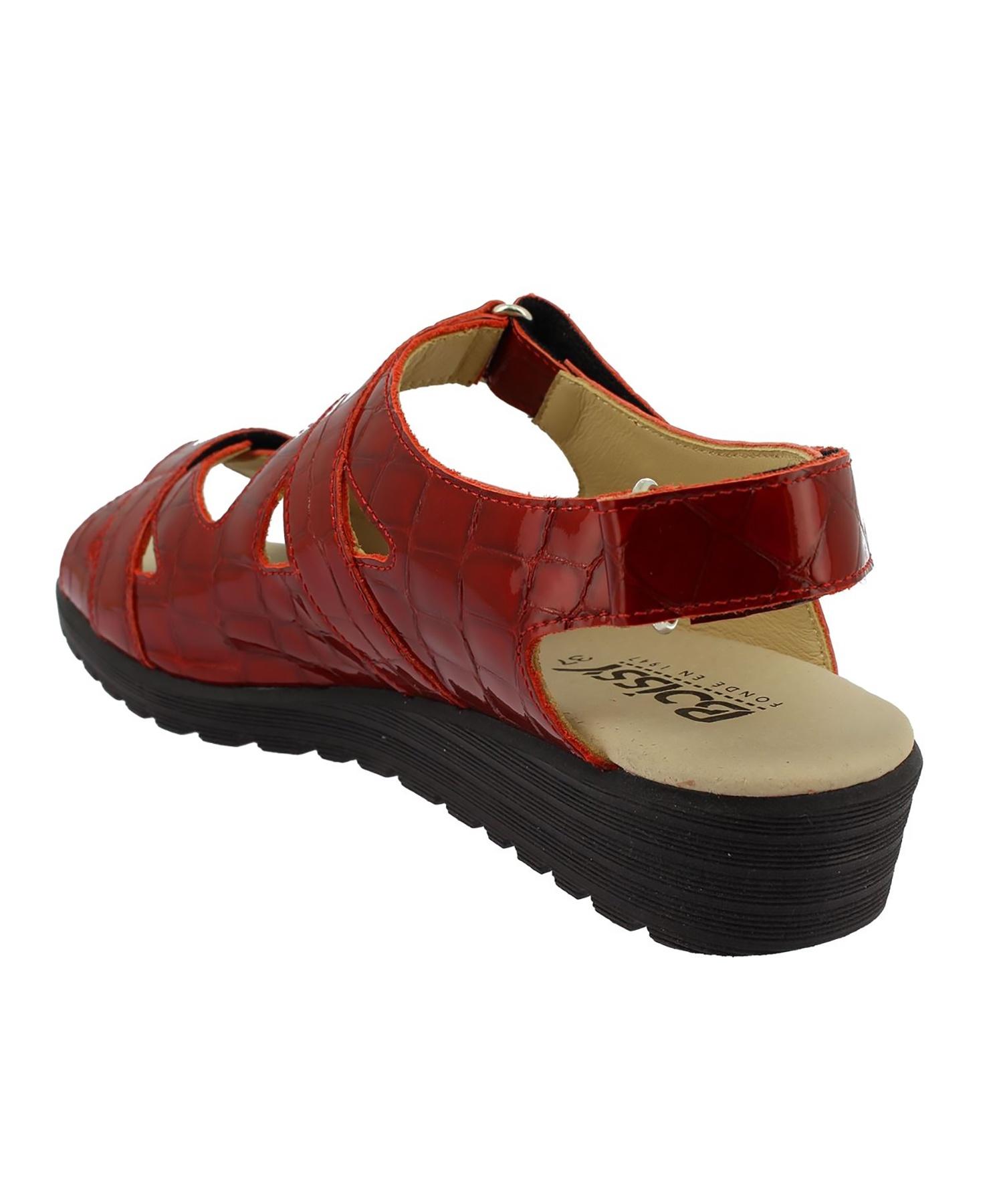 Sandales JODIE Croco Rouge