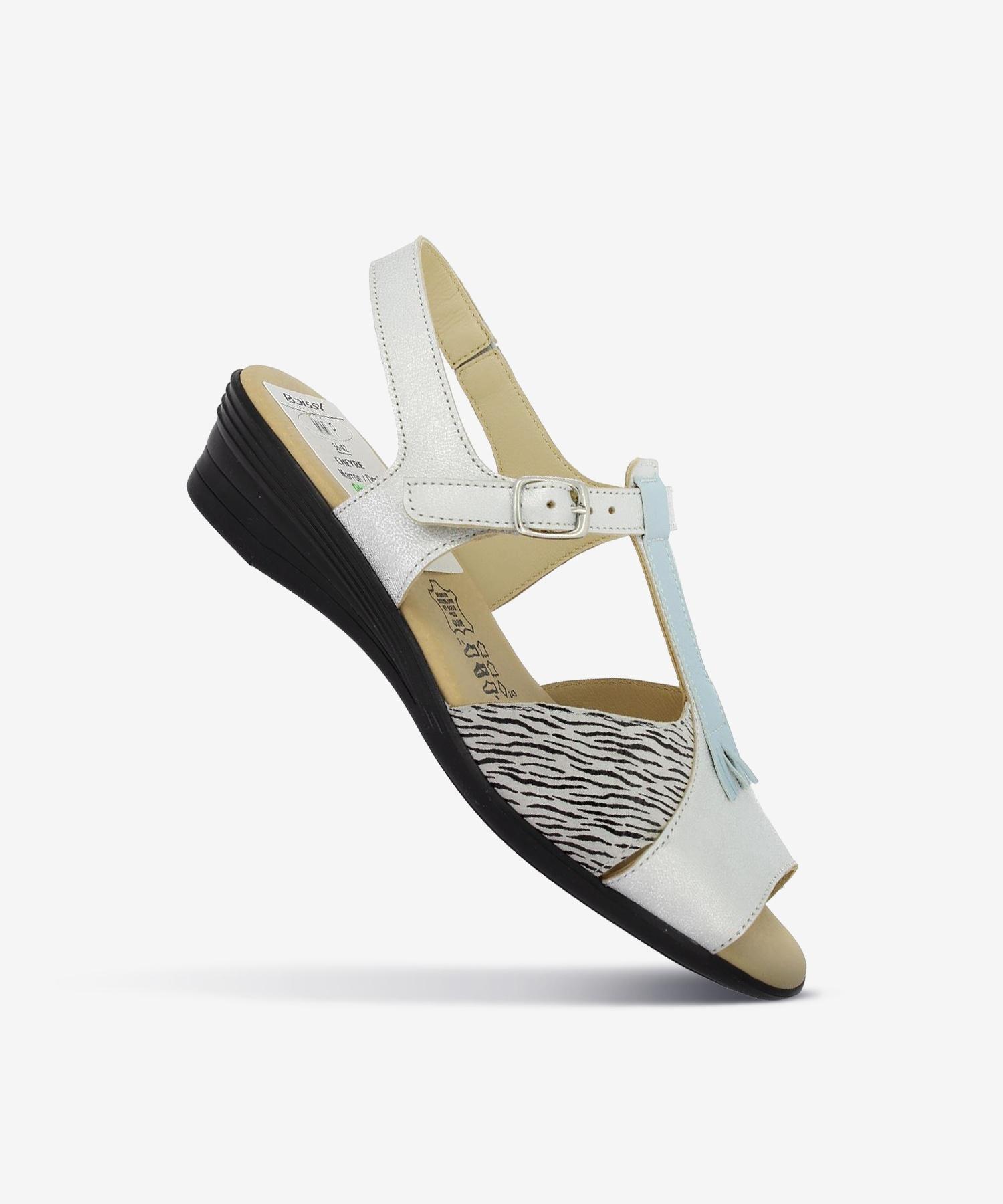 Sandales MIMIE Gris/Zèbre